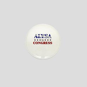 ALYSA for congress Mini Button
