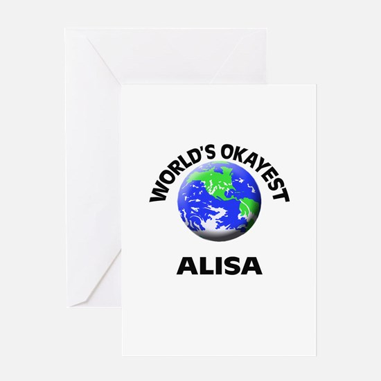 World's Okayest Alisa Greeting Cards