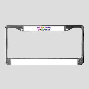 Preschool graduate License Plate Frame