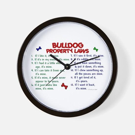 Bulldog Property Laws 2 Wall Clock