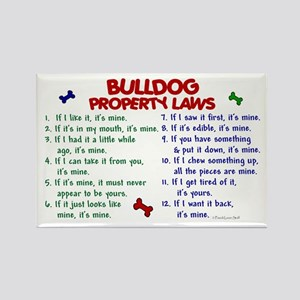 Bulldog Property Laws 2 Rectangle Magnet