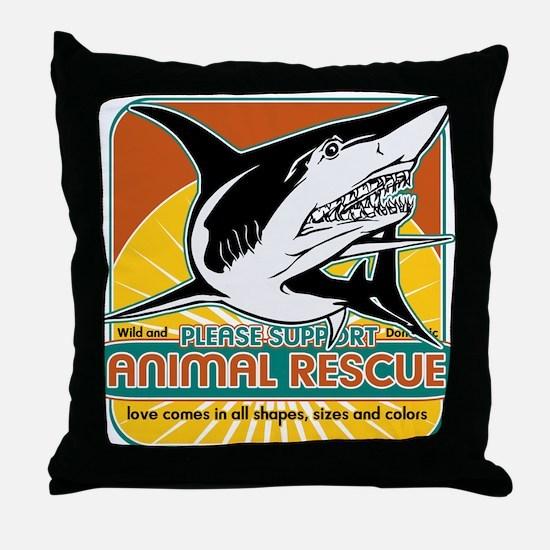 Animal Rescue Shark Throw Pillow