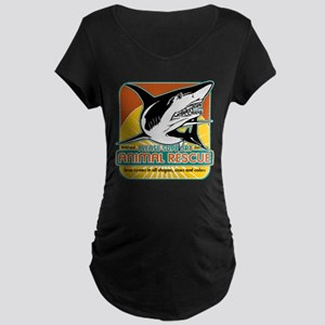 Animal Rescue Shark Maternity Dark T-Shirt