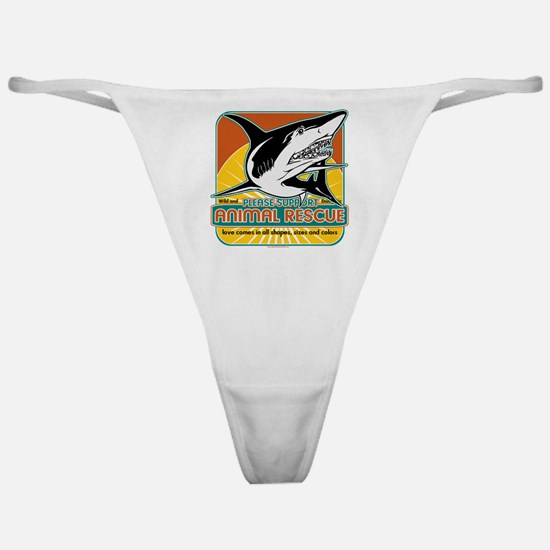 Animal Rescue Shark Classic Thong