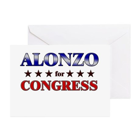 ALONZO for congress Greeting Cards (Pk of 20)