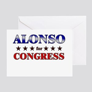ALONSO for congress Greeting Card