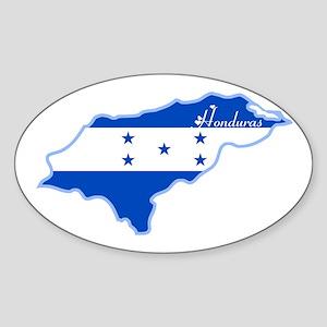 Cool Honduras Oval Sticker