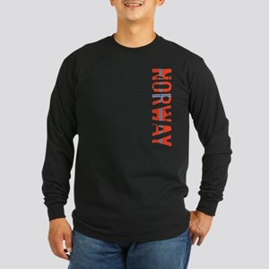 Norway Stamp Long Sleeve Dark T-Shirt