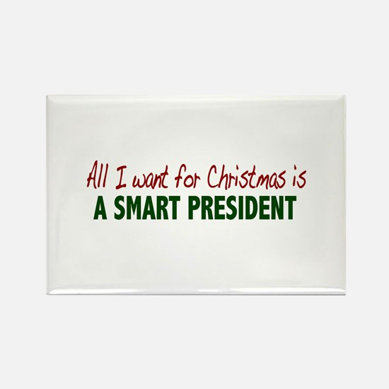 Smart President for Christmas Rectangle Magnet