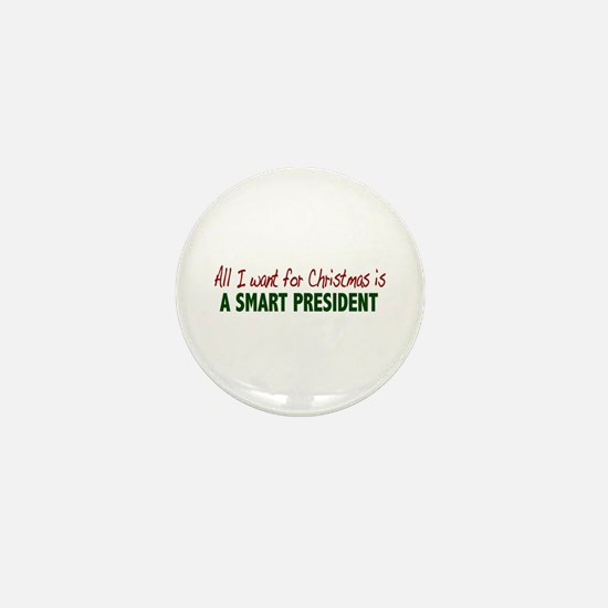 Smart President for Christmas Mini Button (10 pack