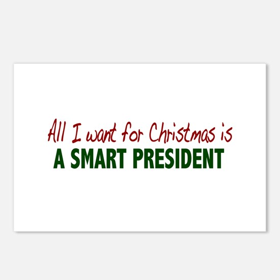 Smart President for Christmas Postcards (Package o