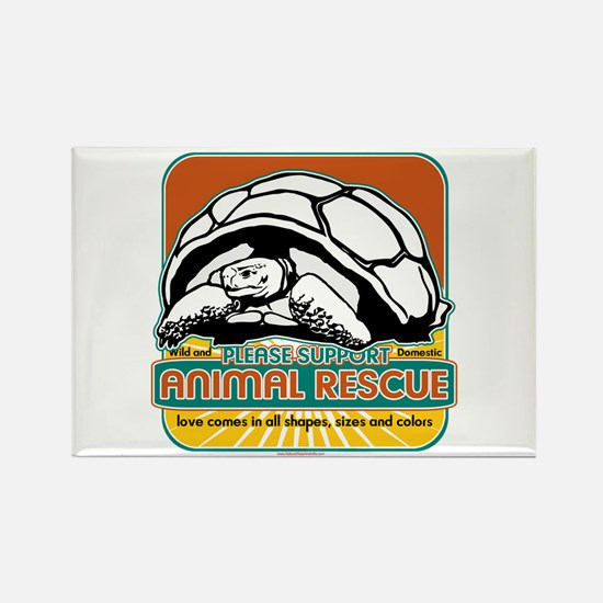 Animal Rescue Turtle Rectangle Magnet