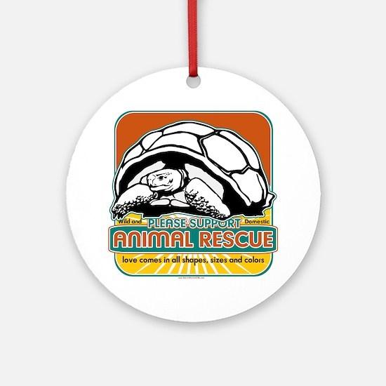 Animal Rescue Turtle Ornament (Round)