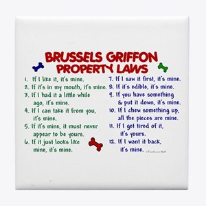 Brussels Griffon Property Laws 2 Tile Coaster