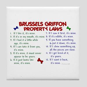 Brussels Griffon Property Laws 2 Tile Coaster