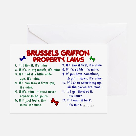 Brussels Griffon Property Laws 2 Greeting Card