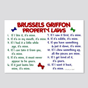 Brussels Griffon Property Laws 2 Postcards (Packag