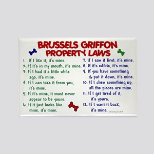 Brussels Griffon Property Laws 2 Rectangle Magnet
