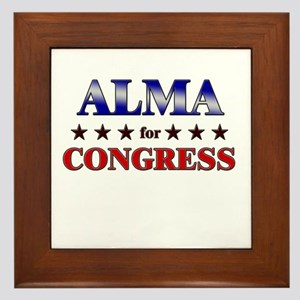 ALMA for congress Framed Tile