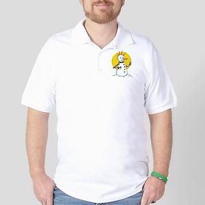 Demented Punk Snowman Golf Shirt