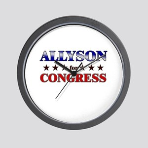 ALLYSON for congress Wall Clock