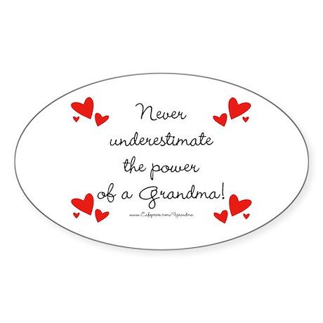 Grandma Power Oval Sticker