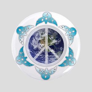 "Peace around the globe 3.5"" Button"