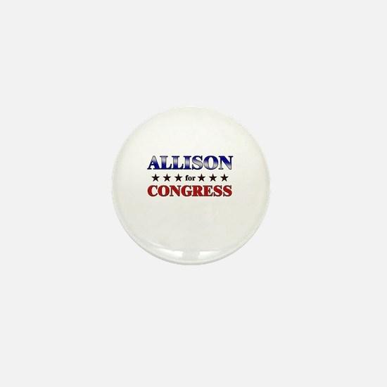 ALLISON for congress Mini Button