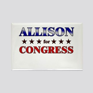 ALLISON for congress Rectangle Magnet