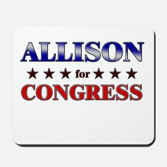 ALLISON for congress Mousepad