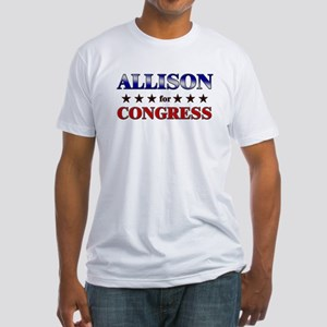 ALLISON for congress Fitted T-Shirt