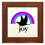 Doves Of Joy Framed Tile