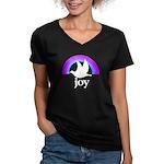 Doves Of Joy Women's V-Neck Dark T-Shirt