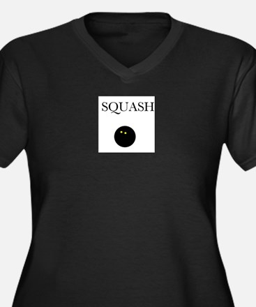 Squash Women's Plus Size V-Neck Dark T-Shirt