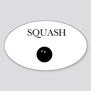 Squash Oval Sticker