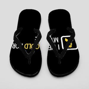 Childhood Cancer: Gold For My Niece Flip Flops