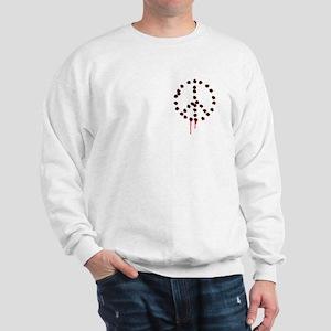 Bullet hole peace sign Sweatshirt