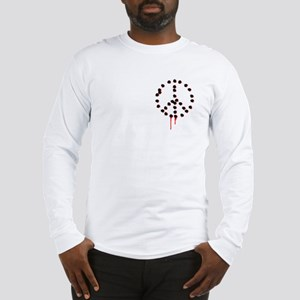 Bullet hole peace sign Long Sleeve T-Shirt