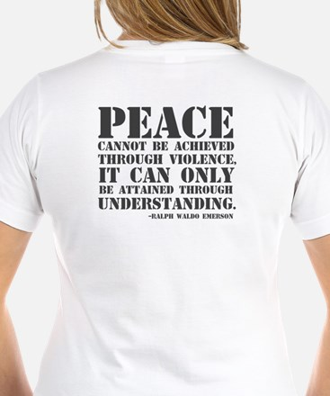 Bullet hole peace sign Shirt