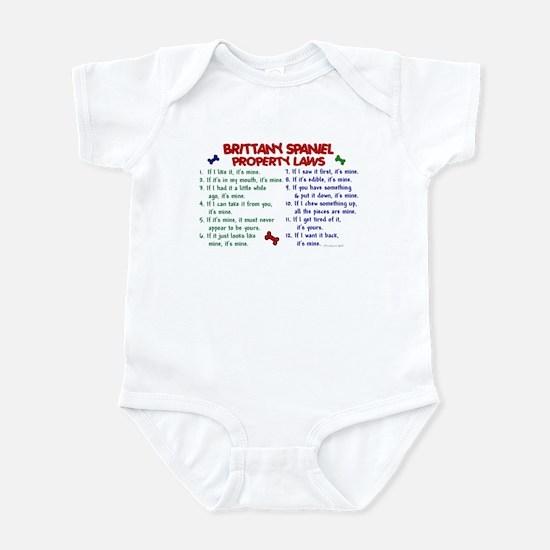 Brittany Spaniel Property Laws 2 Infant Bodysuit