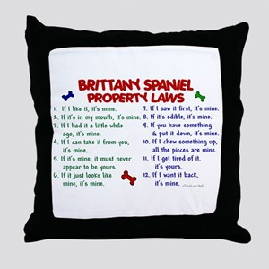 Brittany Spaniel Property Laws 2 Throw Pillow
