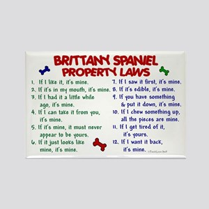 Brittany Spaniel Property Laws 2 Rectangle Magnet