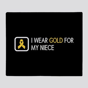 Childhood Cancer: Gold For My Niece Throw Blanket