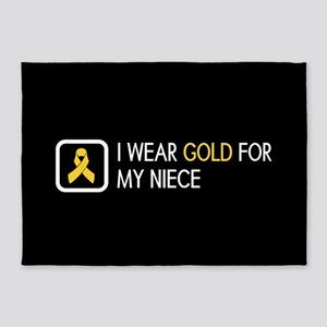 Childhood Cancer: Gold For My Niece 5'x7'Area Rug