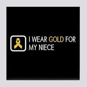 Childhood Cancer: Gold For My Niece Tile Coaster