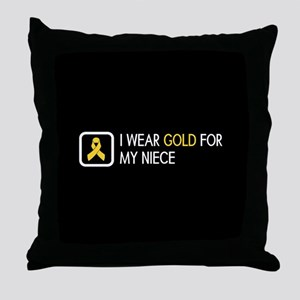 Childhood Cancer: Gold For My Niece Throw Pillow