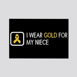 Childhood Cancer: Gold For My Nie Rectangle Magnet