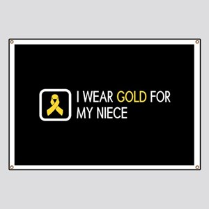Childhood Cancer: Gold For My Niece Banner