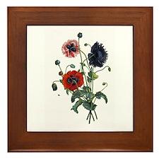 Poppy Art Framed Tile