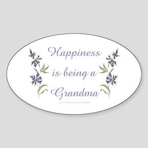Happy Grandma Oval Sticker